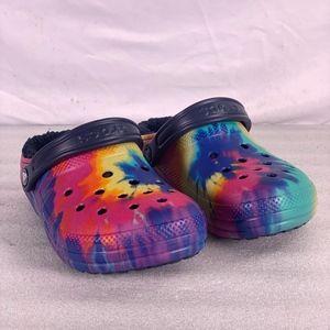Crocs Classic Lined Tie Dye Clogs A223b